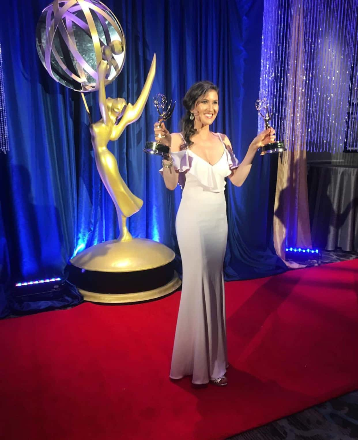 Swoon Talent's on-camera lifestyle host Ashley Mengwasser on the night she won two Emmy's