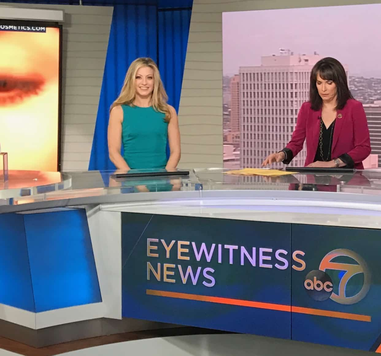 Dr. Annie Negrin on ABC7 talking hot eye makeup trends - Swoon Talent