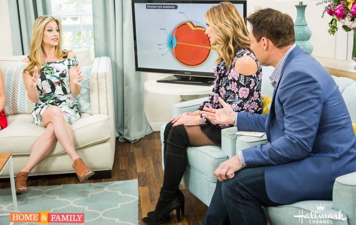Swoon Talent's Dr. Annie Negrin talking eye health on Hallmark's Home & Family