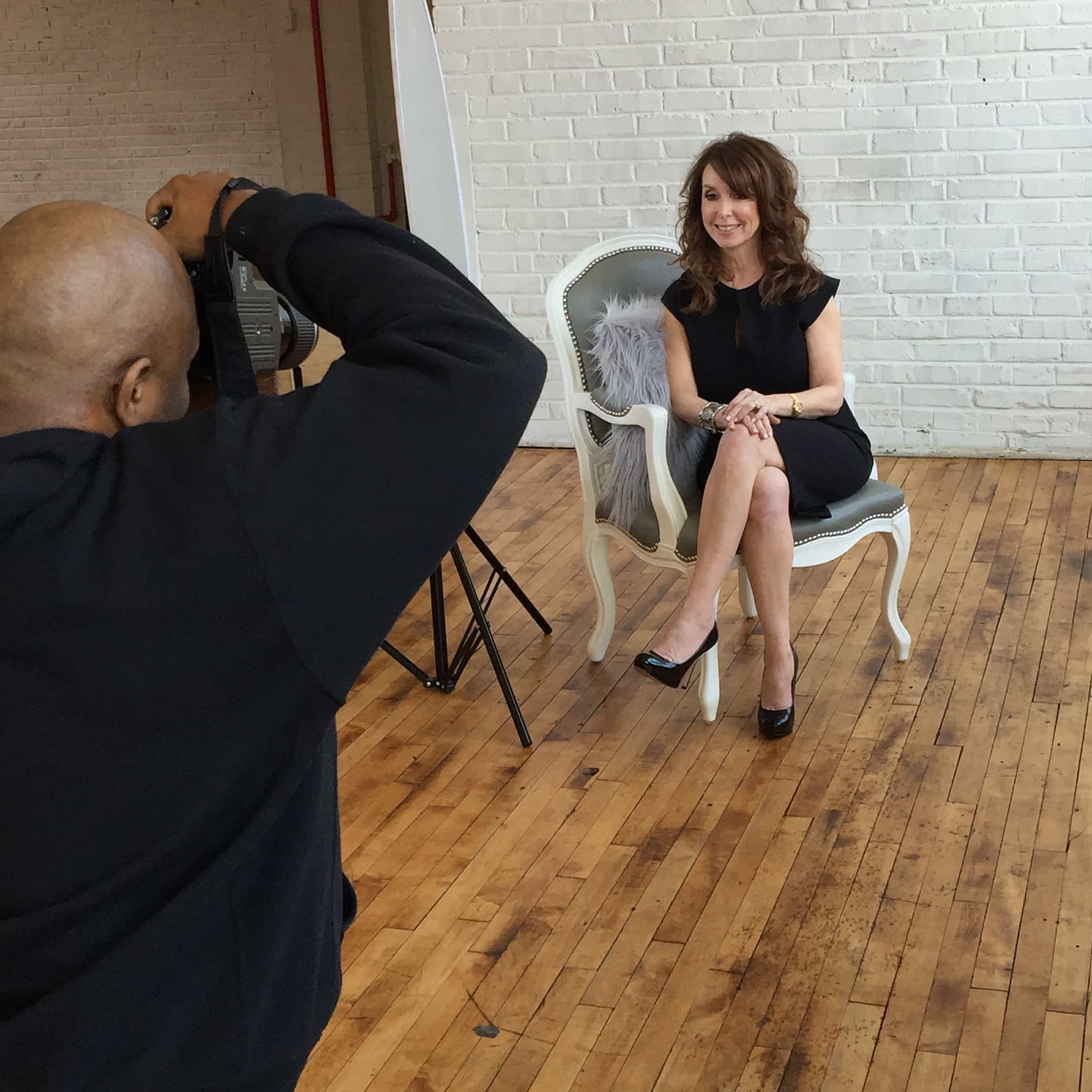 TV producer Donna Benner's photo session with prominent Philadelphia photographer Whitney Thomas