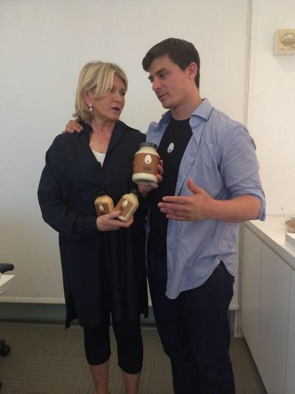 JUST Food CEO Josh Tetrick with company brand ambassador Martha Stewart - Swoon Talent
