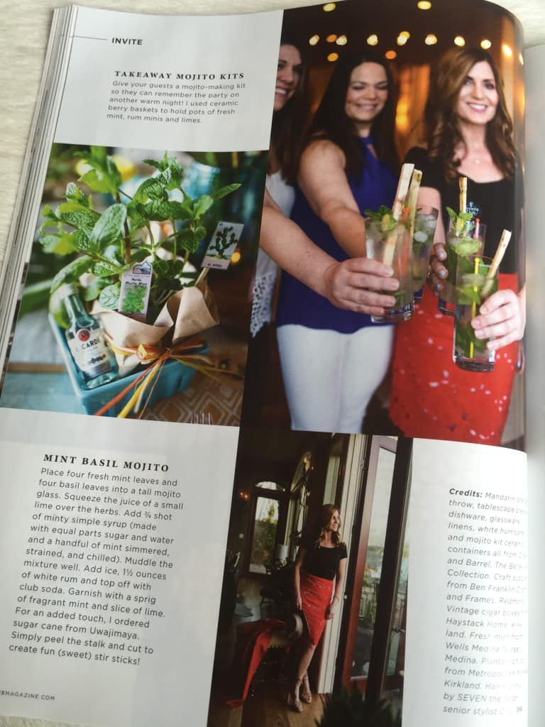 Monica Hart featured in Food Magazine