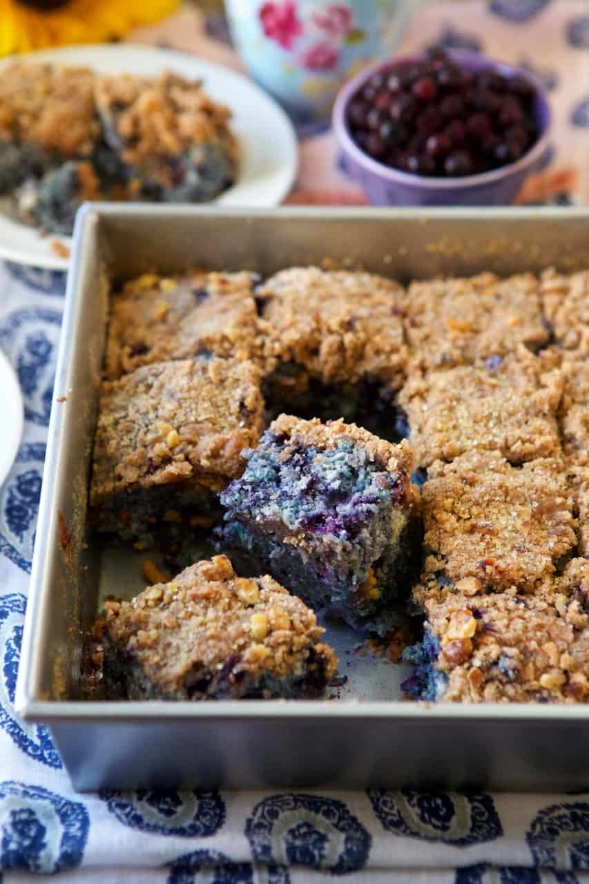 Swoon Talent - Food Blogger & Home Cook Marla Meridith's Blueberry Buckle Streusel Topping - From High Alpine Cuisine