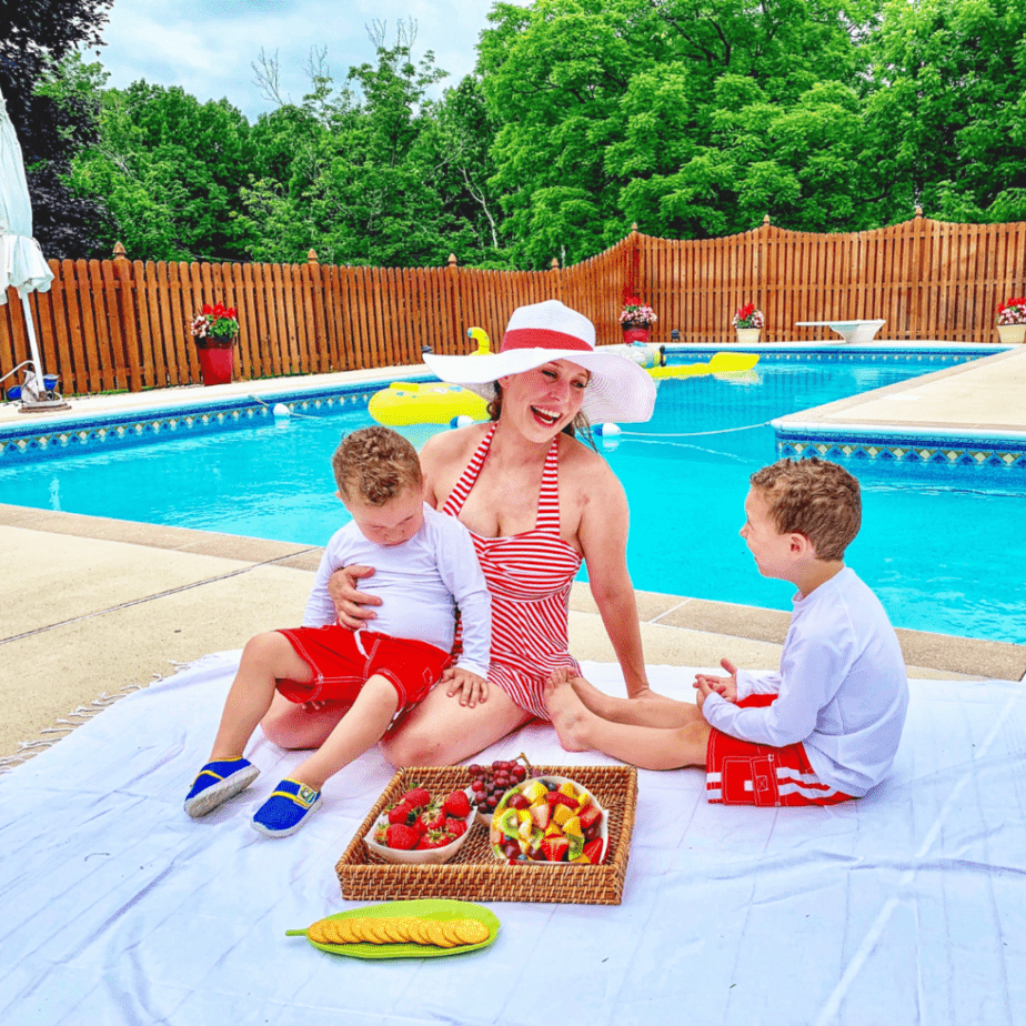 Erin Palinski Wade loves spending time outdoors with her young children