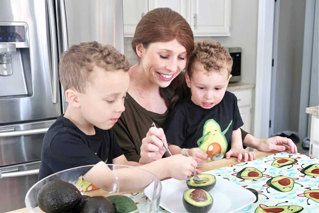 Erin Palinski Wade loves teaching her kids about healthy food at an early age