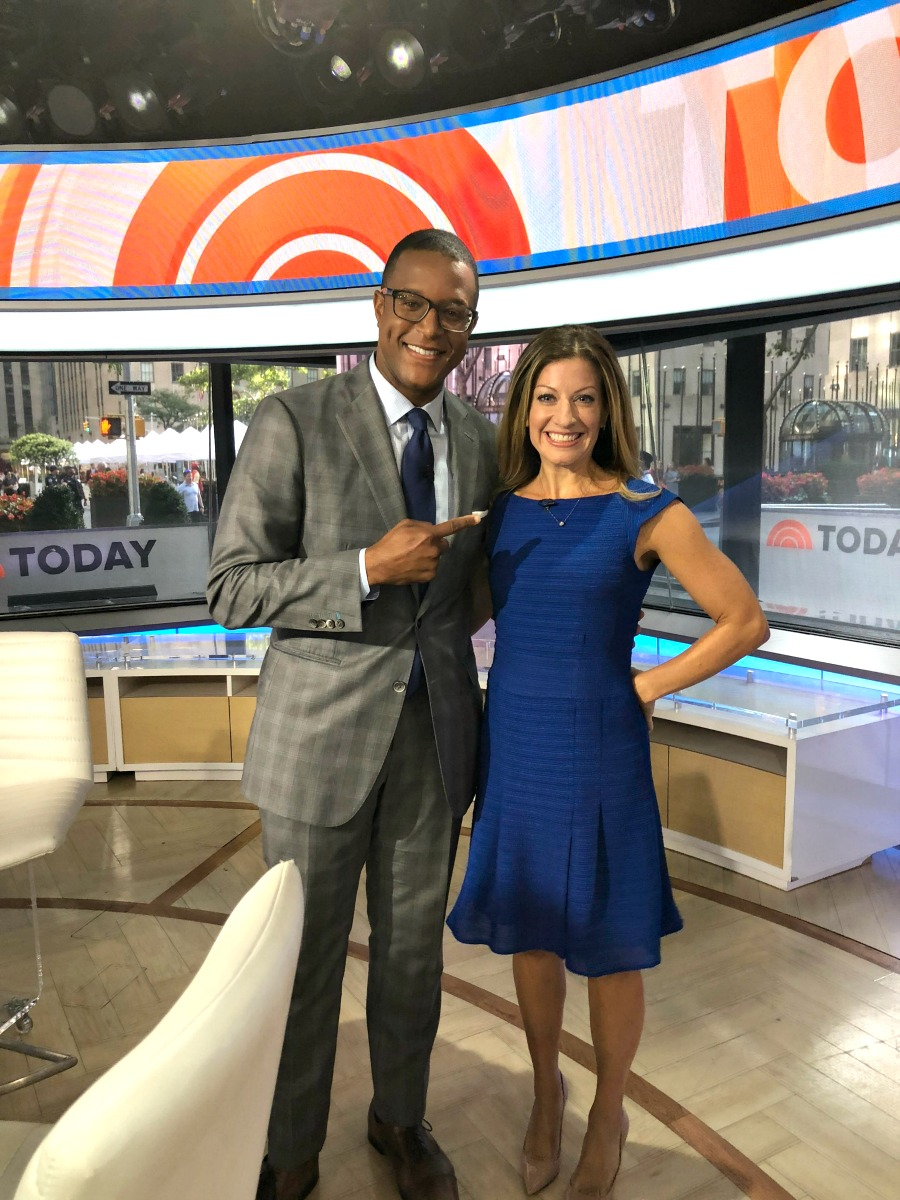 Dr. Annie Negrin with TODAY show anchor Craig Melvin