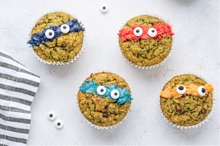 Ninja Turtle Veggie Muffins are the perfect healthy and fun kid's recipe