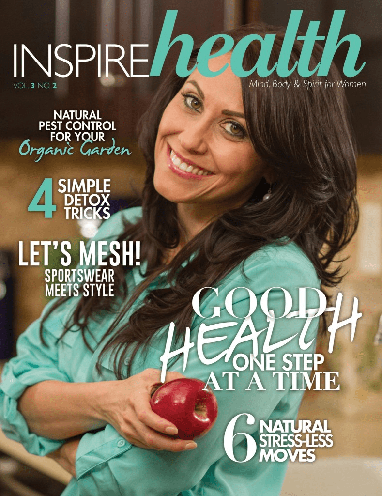 Swoon Talent's Carolyn Scott-Hamilton, The Healthy Voyager-on the cover of Inspire Health Magazine