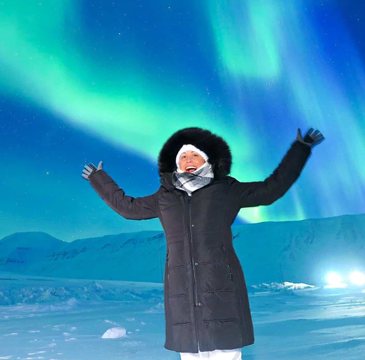 Swoon Talent's Carolyn Scott-Hamilton in the arctic circle