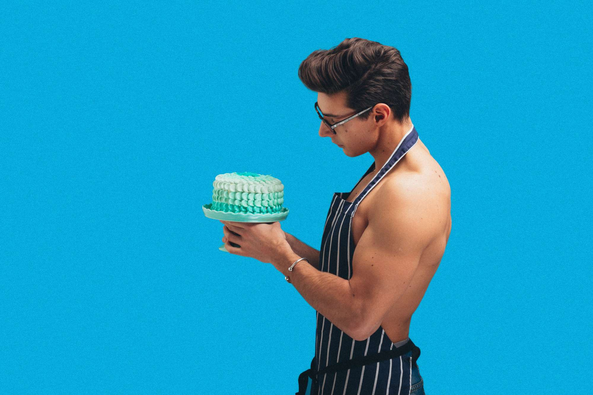 YouTube star and influencer & baker Matt Adlard known as the Topless Baker