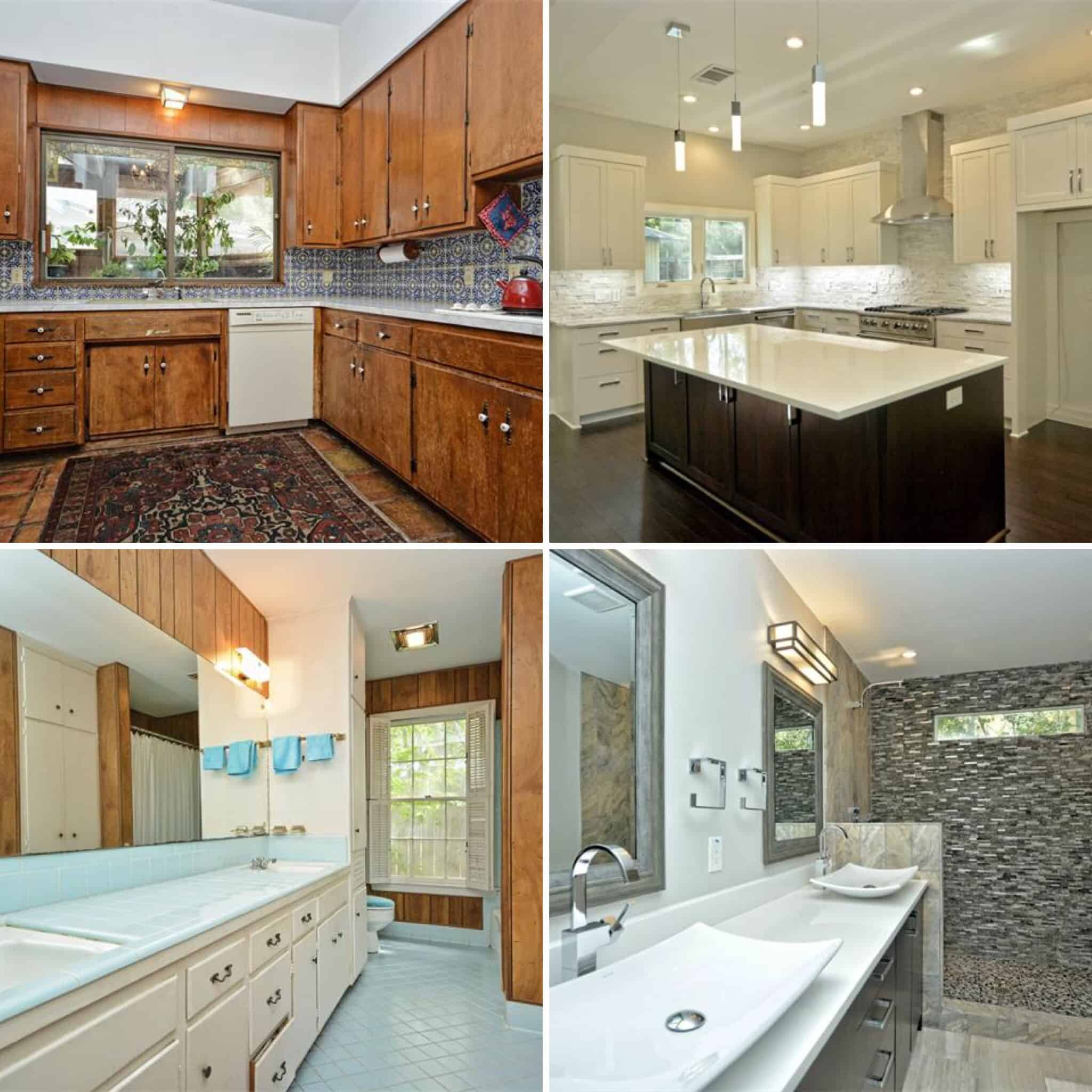Dramatic Before & After Pictures of a Kitchen & Bath Remodel by Interior Designer Shay Millheiser of Swoon Talent