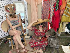 Swoon Talent Blog - Steve Harvey's Producer Alyson DiFranco at Flea Market Selling Her vintage Clothes