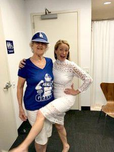 Steve Harvey Senior Producer Alyson DiFranco Backstage with Guest Rally Granny