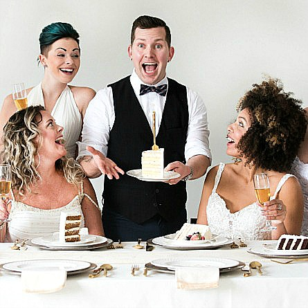 Food Network Champ Steve Konopelski with Bridal Party
