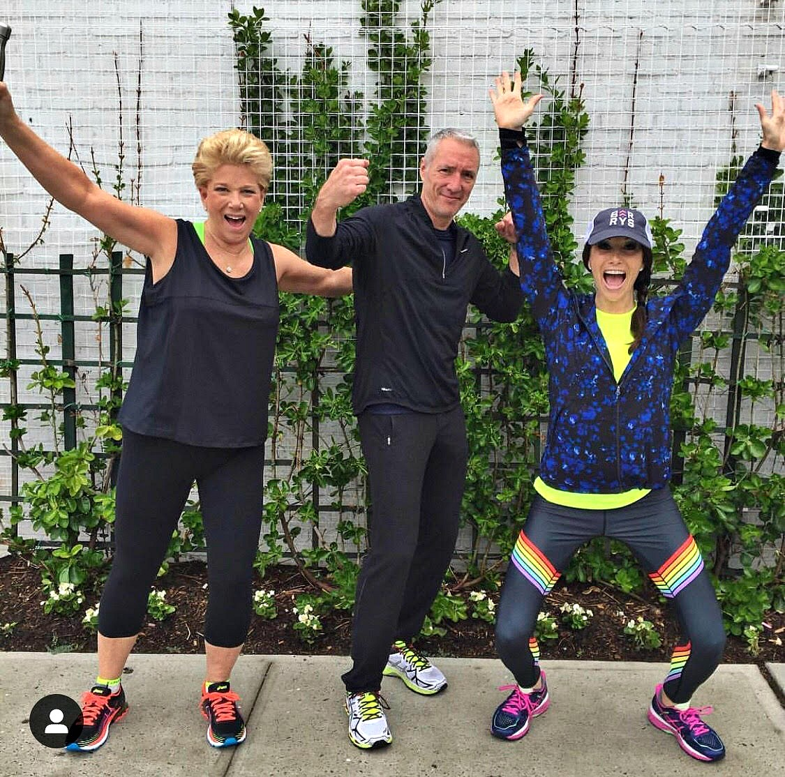Instagram influencer & fitness pro Jamie Hess with mom Joan Lunden & husband George - @NYCFitFam
