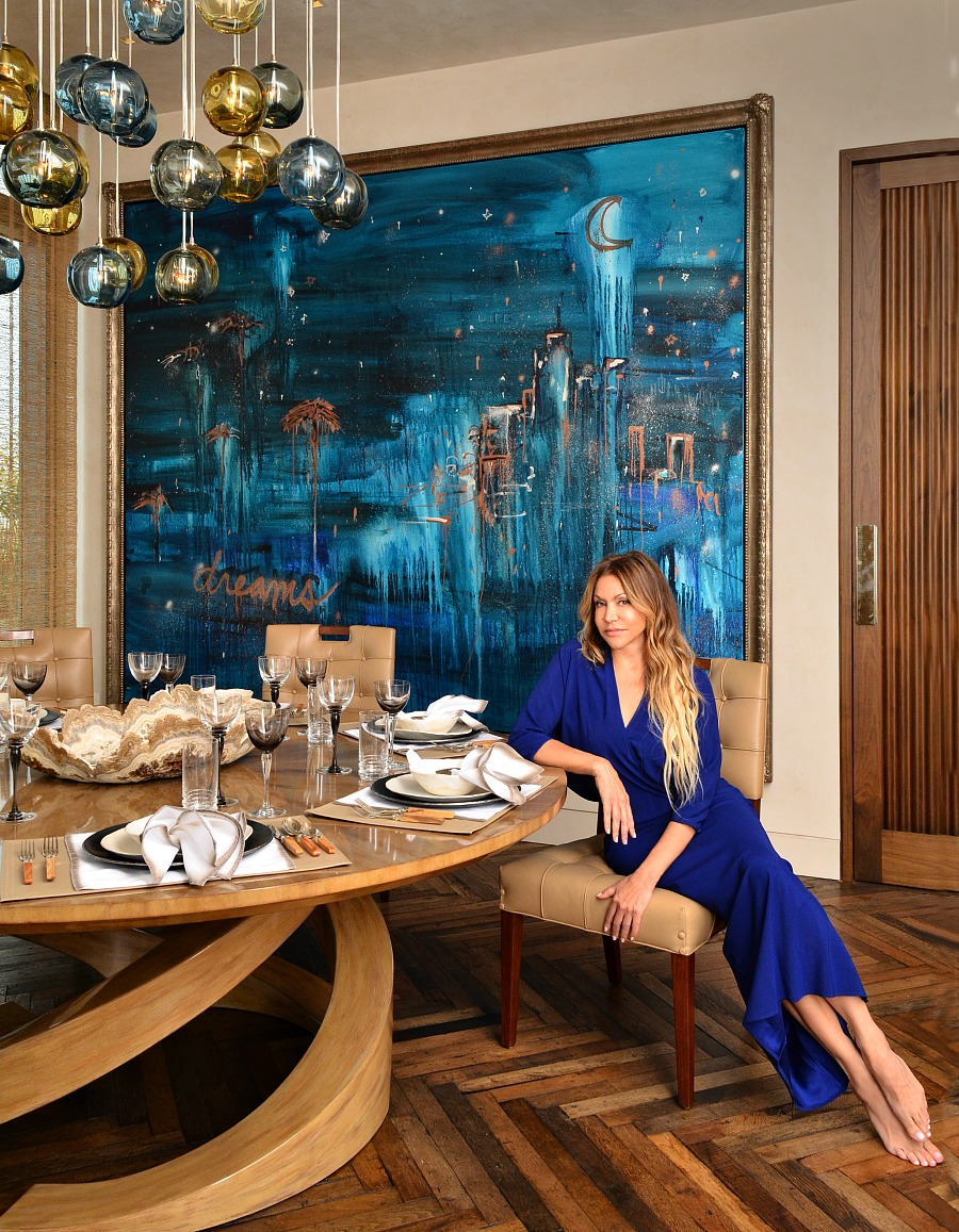 Luxury Interior Designer Sandra Espinet in one of her gorgeous rooms