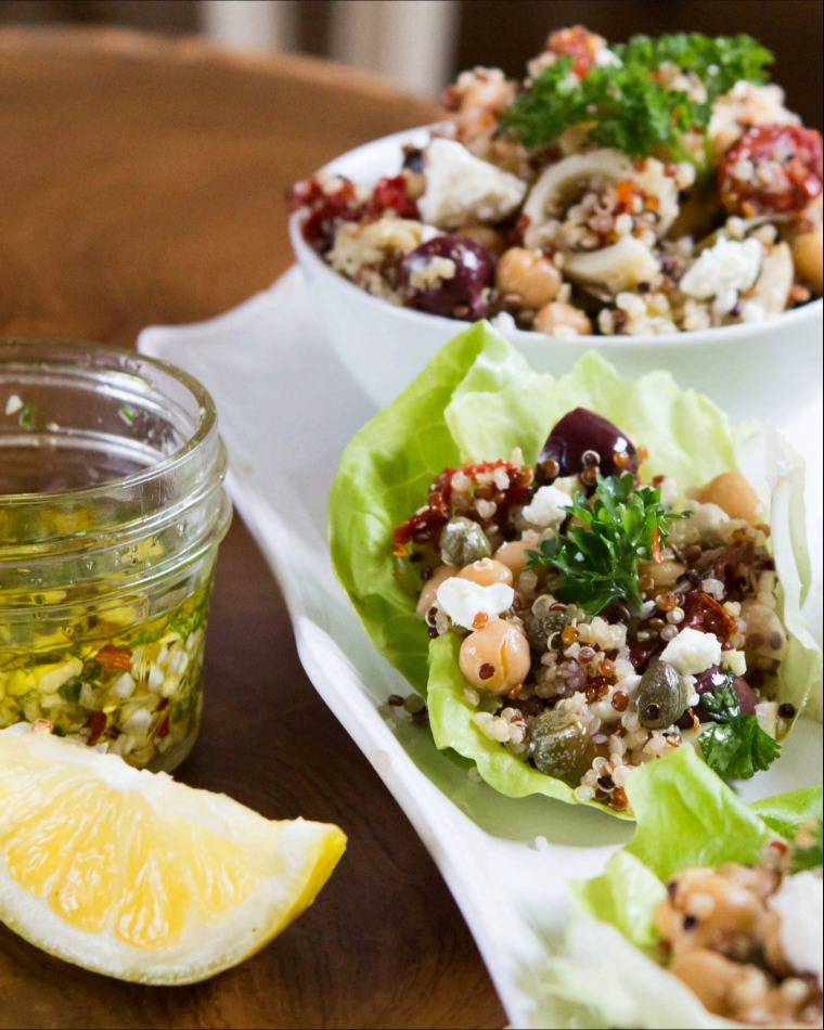 Chef Ginger Lewis' Mediterranean Lettuces Wraps