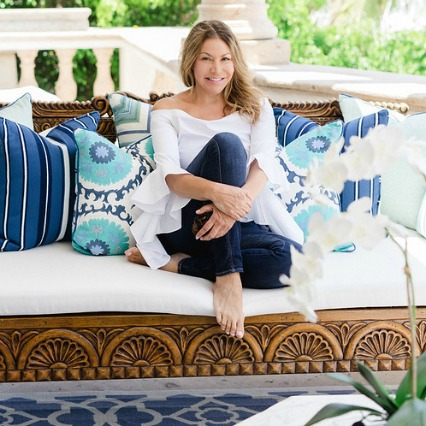 Interior Designer Sandra Espinet enjoying outdoor patio design