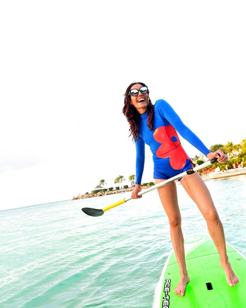TV lifestyle expert Christine Bibbo Herr enjoys spending her time catching waves on surf board as part of her fitness routine