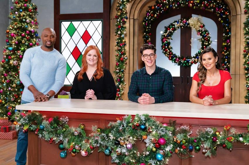 Matt Adlard joins other Food Network judges on the set of Christmas Cookie Challenge Season 3