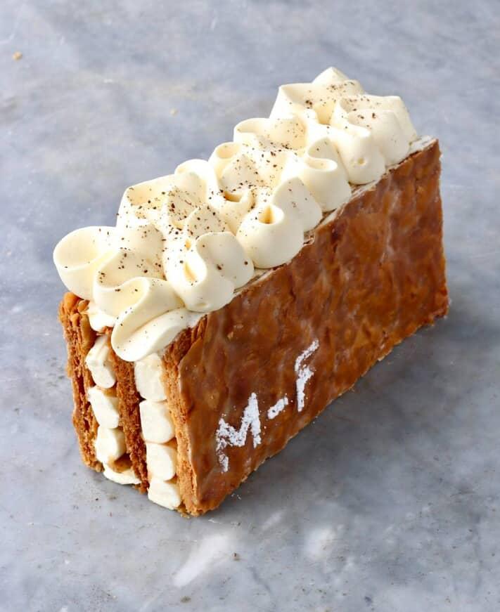 British Baker Matt Adlard's gourmet Mille-Feuille