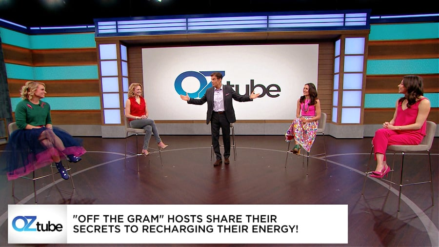 Christine Bibbo Herr and her podcast co-hosts featured on The Dr. Oz Show