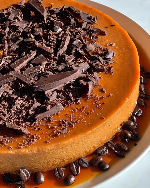 A delicious homemade cheesecake created by Miami celebrity chef Chris Valdes