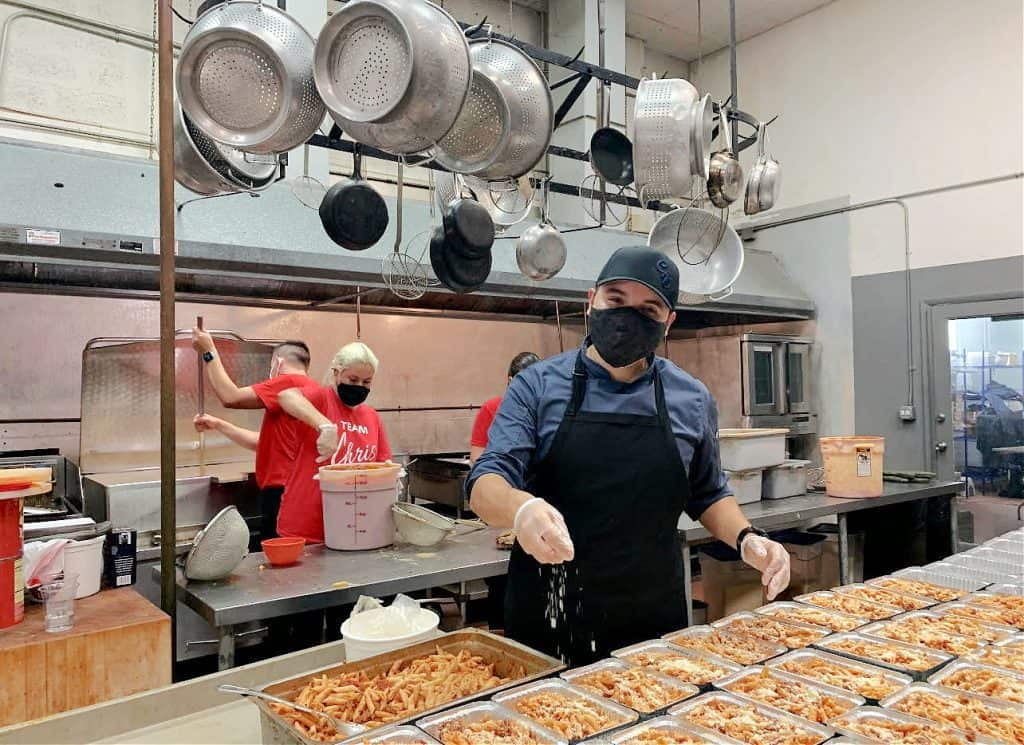 Meal prepping...Latino Chris Valdes has fed 50,000 families in need during the pandemic.