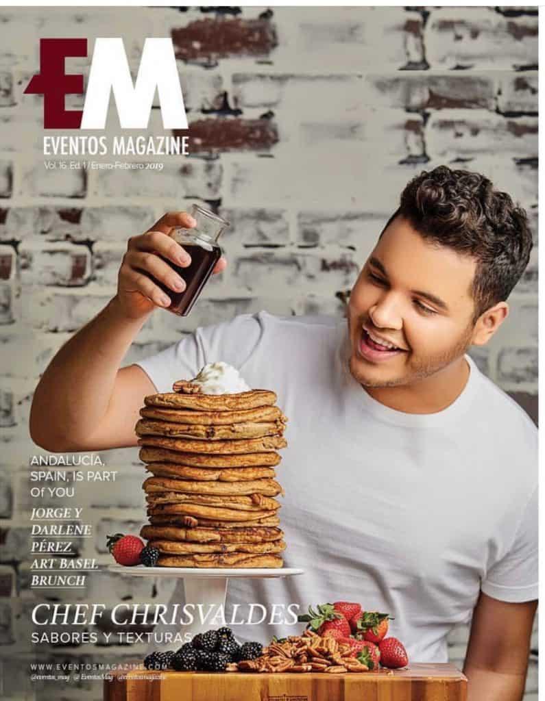 Miami Celebrity Chef Chris Valdes on cover EM Magazine