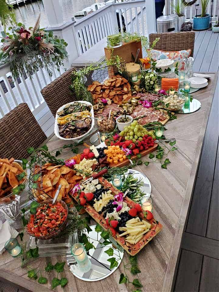 A private party catered by Chef Lauren Van Liew