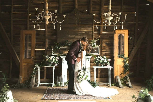 Wedding chapel inside the old southern charm outdoor wedding venue in Oxford, North Carolina owned by Britnye & Cody Shore