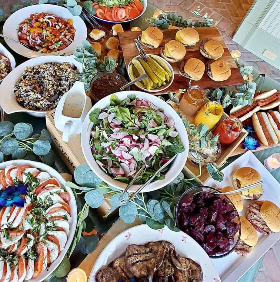New Jersey Caterer Chef Lauren Van Liew's delicious catering spread