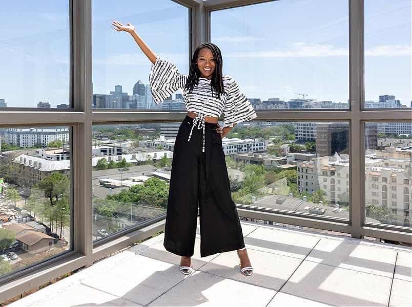 Roxanne Carne is a black female business owner who runs her own personal stylist firm in Dallas, TX