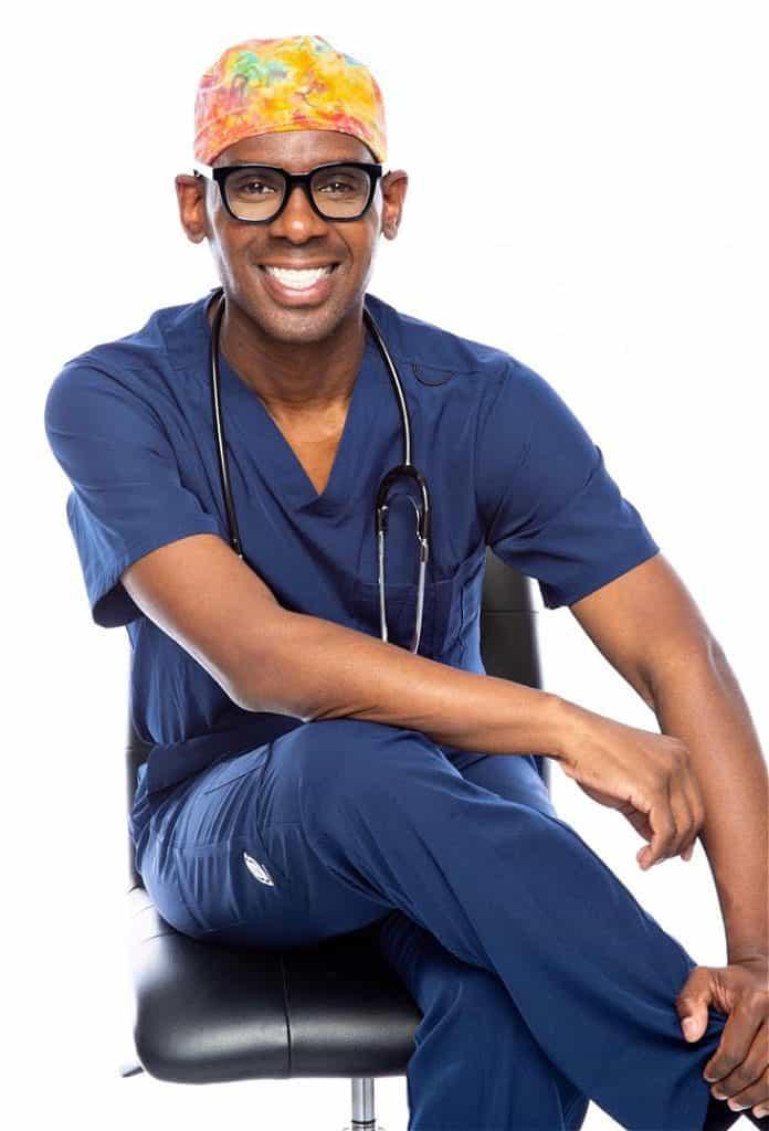Dr. Cedrek McFadden appears often on TV as a black health advocate