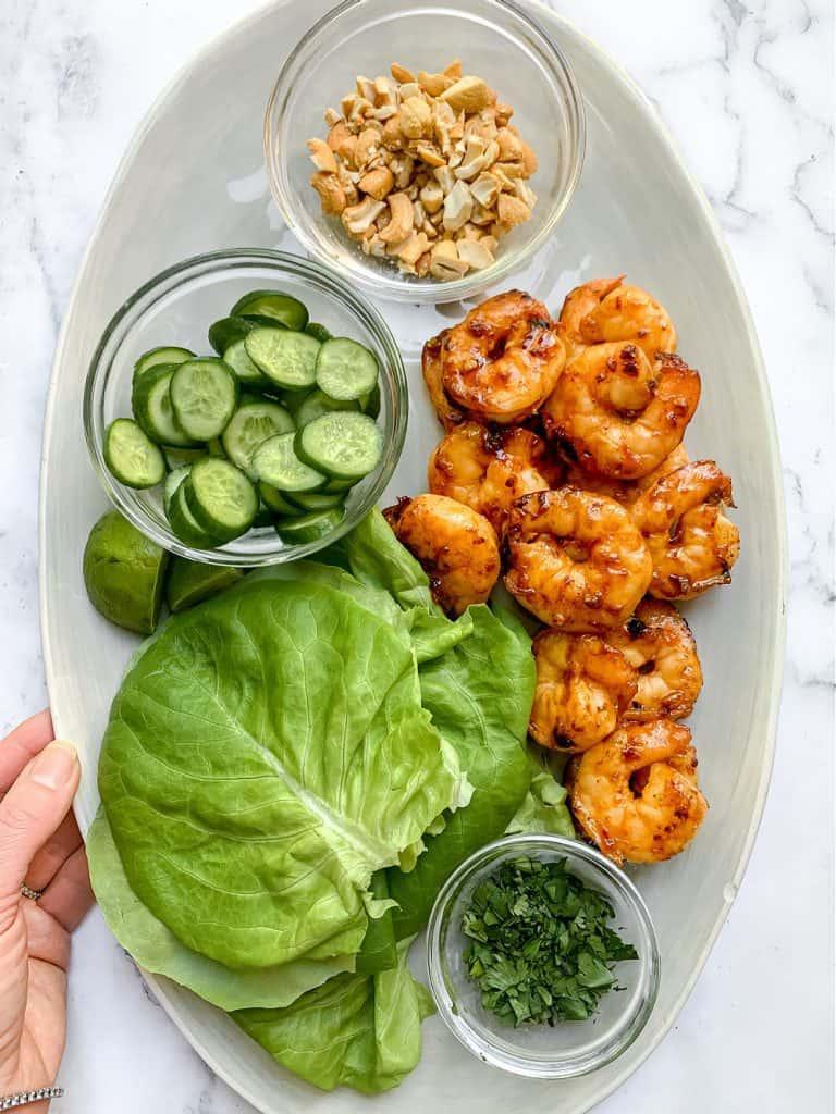 Spicy Sambal Shrimp Lettuce Wraps by Chef Kathleen Ashmore