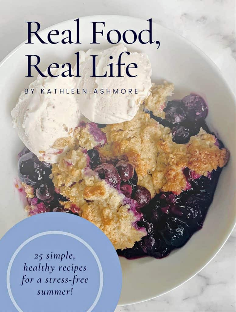 Chef Kathleen Ashmore's E-cookbook has 25 healthy recipes for a stress-free summer.