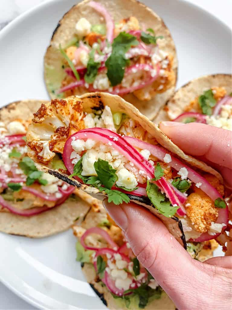 Roasted Cauliflower Tacos by TikTok Chef Kathleen Ashmore