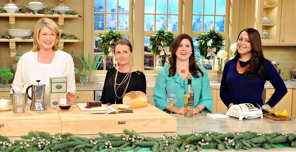 Professionally trained chef Kathleen Ashmore on the set of The Martha Stewart Show