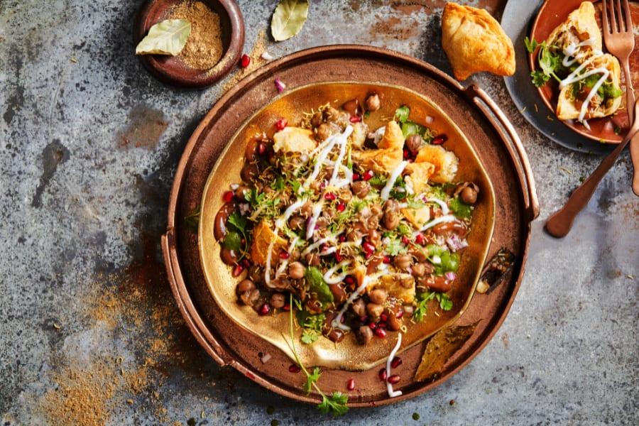 A delicious gourmet dish prepared by Atlanta chef Palak Patel