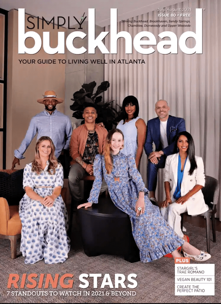 Chef Palak Patel on the cover of Simply Buckhead