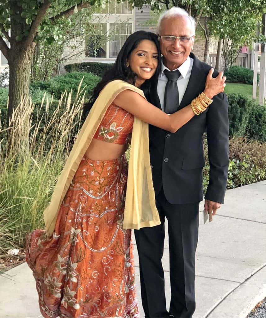 TV personality Chef Palak Patel with her dad