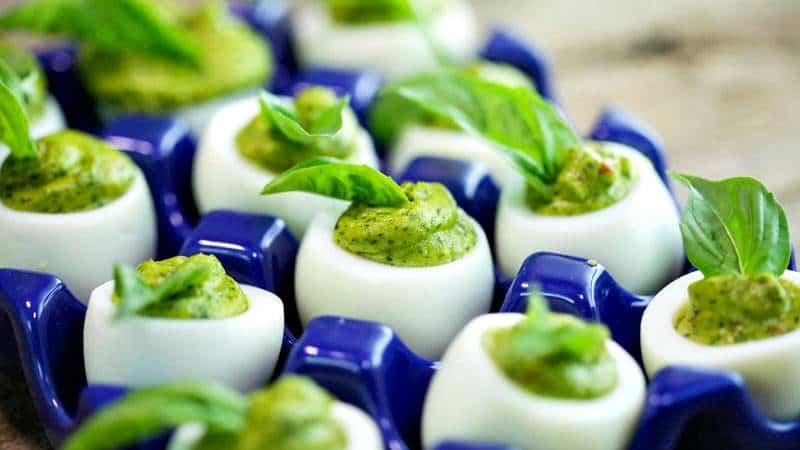 Swoon Talent Blog - Rachael Ray's Pesto Deviled Eggs - A fav of Producer Joanna Sims