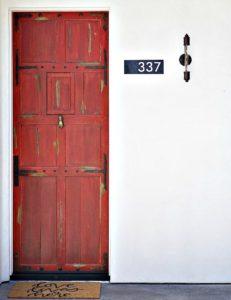 Rustic Front Door to Casa Nova, Ojai, CA