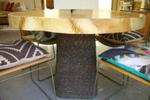 Dining Room Table Made From Bicycle Chains