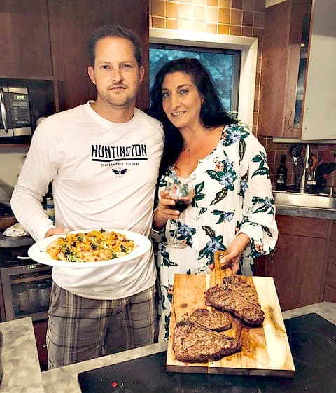 Swoon Talent Blog - Rachael Ray's Producer Joanna Sims with Husband Joshua in Their Kitchen Where they Love to Cook