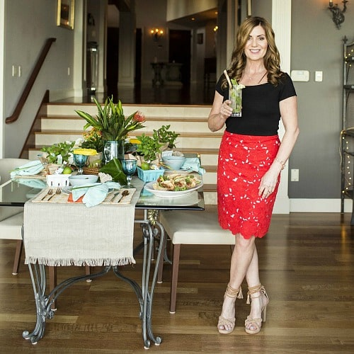DIY Expert Monica Hart showing a beautiful tablescape in her home - Swoon Talent